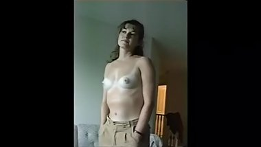 Sexy Shy MILF Shows Off Her Tanlines and More!