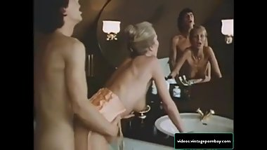 Classic Stepmother and Son Fucking in their Bathroom [vintagepornbay.com]