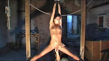 woman stretched and whipped
