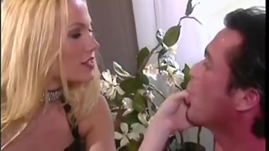 Blond Mistress Demands Footslave Worship