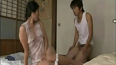 Japanese Sleeping Mom Fucked Her Son