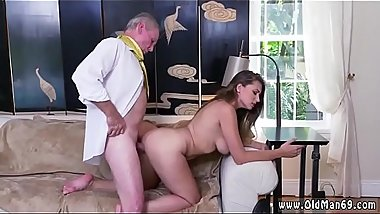 Old white man black girl and vintage gangbang Ivy impresses with her