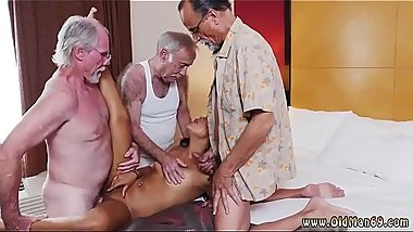 Old time vintage and old man cums in young pussy Staycation with a