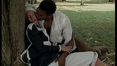 Black slave pounce on a white servant for fuck with.