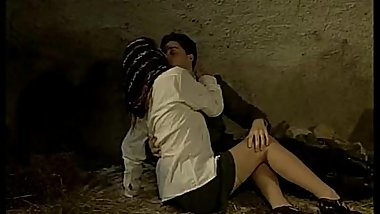 Italian porn vintage: sex in a cave with a sexy country girl