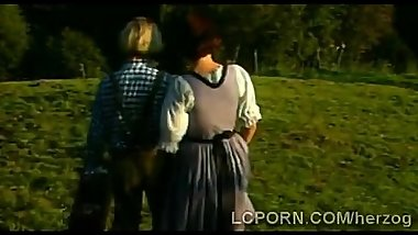 Busty German farm lady pleases foreign hunk in vintage scenet-1