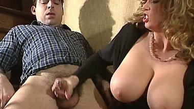 Big tits on dick
