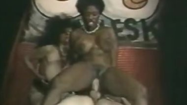 ON STAGE Big black hooters Ebony Ayes 3some