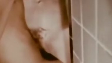 Tits fuck and anal in foamy bathroom