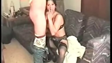 Vintage sextape with a really kinky brunette - Hot fuck