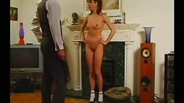 Cindy Read being spanked.