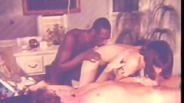 Juicy Interracial Threesome on Massage Table (1970s Vintage)