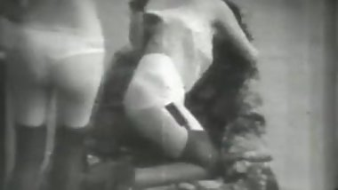 Rare 1930s French fetish stag film #2: S&M with a smile