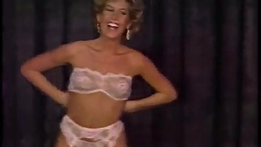 Candie Evans secretary striptease