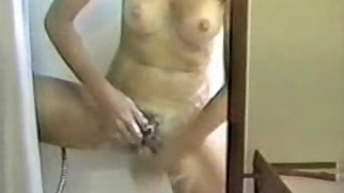 hot vintage shower masturbation