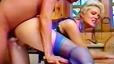 Seducing fucker in blue lingerie