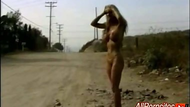 Blonde Hitch Hiker Ends With Cum In Mouth