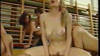 Crazy school german orgy from 90s