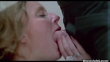 Porn Star Susan McBain gives a guy a blowjob
