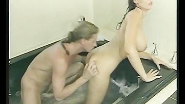 Sensual hot tub fuck