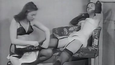 Two Beauties Enjoy Their Boots Stockings and Lingeries